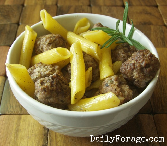 Herbed Meatballs with Pasta GFDF md pic