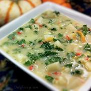 Gluten and Dairy Free German Potato Leek Soup by DailyForage.com