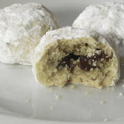 Gluten and Dairy Free Chocolate Filled Pecan Sandies Christmas Cookies by DailyForage.com