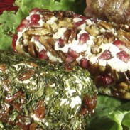 Embellished Gluten-free Goat Cheese or Dairy-free Cream Cheese Logs