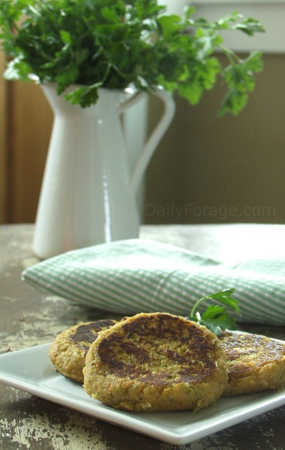 Gluten-free, Dairy-free, Vegan Confetti Potato Pancakes by DailyForage.com