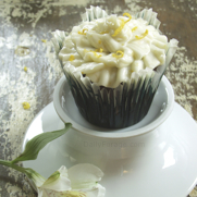 Gluten and Dairy Free Chocolate Cupcakes with Lemon Zest Buttercream Frosting by DailyForage.com