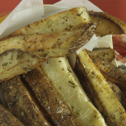 Gluten-free, Dairy-free Herbed Roasted French Fries