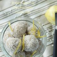 No-Bake Gluten & Dairy Free Lemon Coconut Balls by DailyForage.com