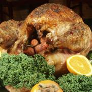Roasted Turkey Bathed in Apricot Cherry Amaretto Glaze