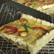 Gluten-free Dairy-free Caramelized Onion and Tomato Tart
