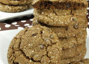 Gluten-free Dairy-free Chewy Chocolate Espresso Gingerbread Cookies