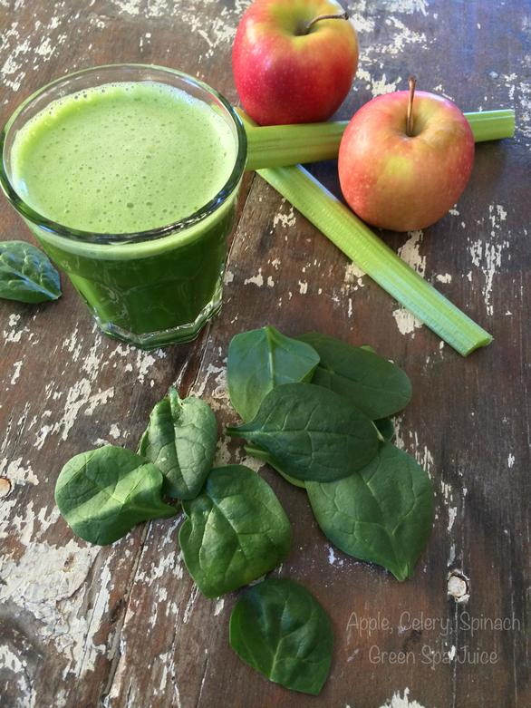 Apple Celery Spinach Green Spa Juice