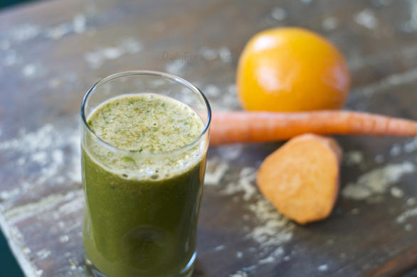 Cara Cara Orange and Sweet Potato Juice by DailyForage.com