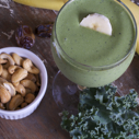 Gluten-free Dairy-free Cashew Butter Banana Date Smoothie
