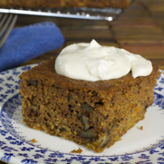 Gluten-free Dairy-free Carrot Cake with Coconut Cream Topping