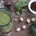 Gluten-free Dairy-free Macadamia Coffee Green Smoothie