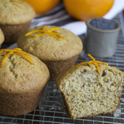 Gluten-freen Dairy-free Orange Poppy Seed Muffins