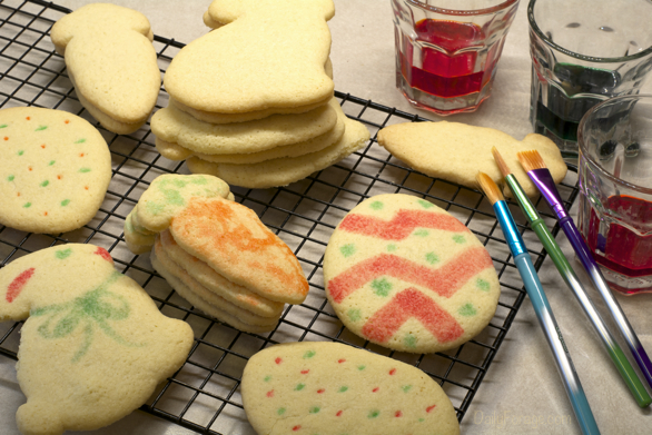 Gluten-free Dairy-free Watercolor Easter Cutout Sugar Cookies
