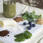Gluten-free Dairy-free Cashew Butter Chocolate Mocha Green Smoothie