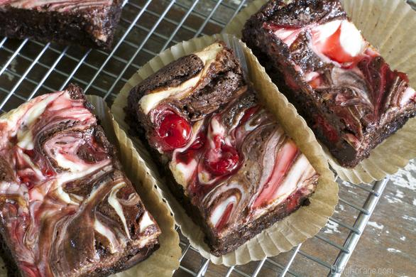 ... free Dairy-free Soy-free Double Chocolate Cherry Cream Cheese Brownies