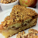 Gluten Free Dairy-free Walnut-Apple Coffee Cake