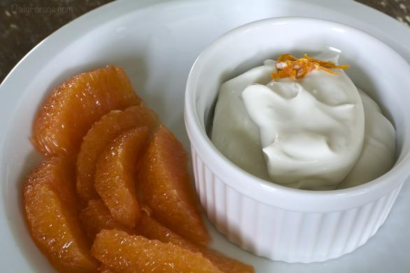 Gluten-free Dairy-free Coconut Cream Whipped Topping with Orange Essence