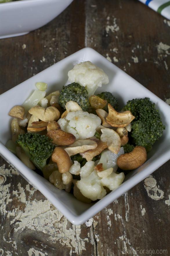 Gluten-free Dairy-free Broccoli Cauliflower Salad