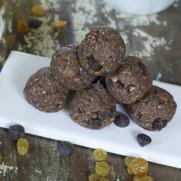 Gluten-free Grain-free Vegan Chocolate Cashew Protein Balls