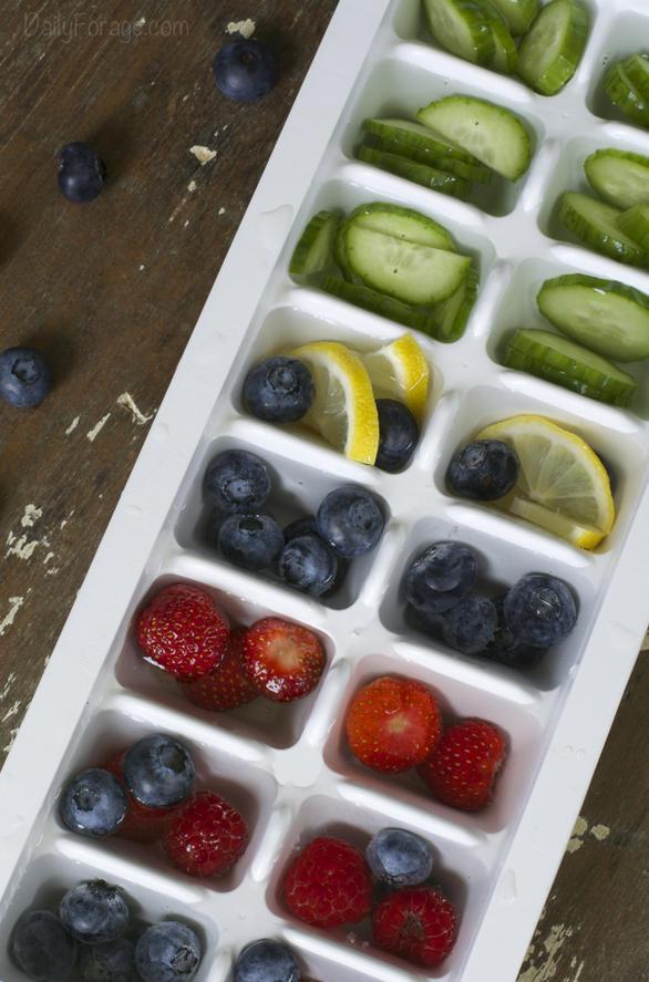 Fruit & Veggie Ice Cubes