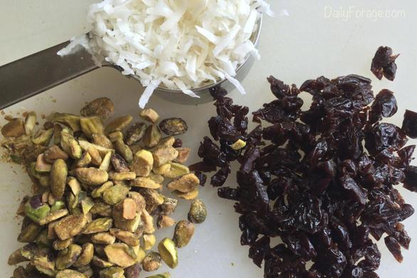 Gluten-free Vegan Pistachio Tart Cherry Dark Chocolate Bark