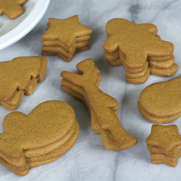 Gingerbread Cutout Cookies, free of gluten, dairy, eggs, soy, peanuts, and tree nuts