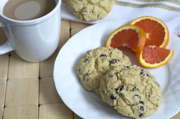 Gluten-free, Dairy-free Chocolate Chip Orange Biscuit Scones