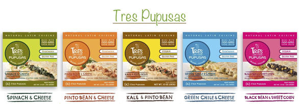 Tres Pupusas Product Line Up