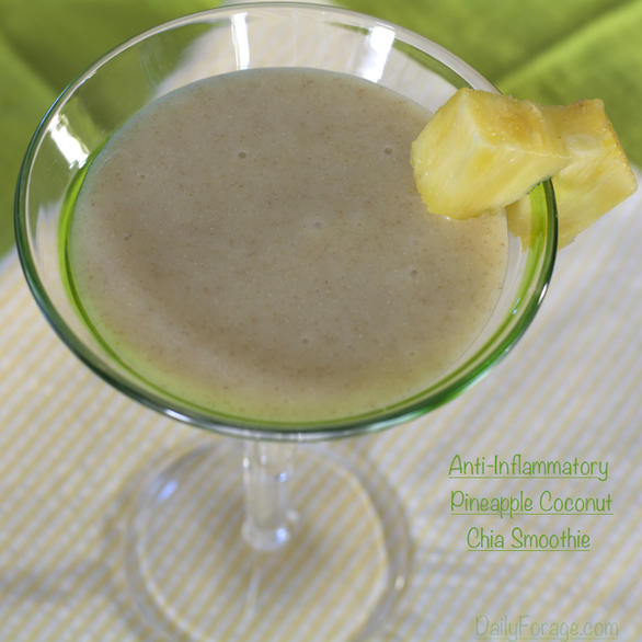 Anti-Inflammatory Pineapple Coconut Chia Smoothie