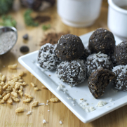 Gluten-free, Dairy-free No-Bake Nut Butter and Chocolate Protein Shake Balls