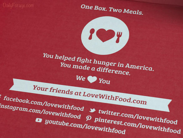 Love With Food Gluten Free Box Donates Meals