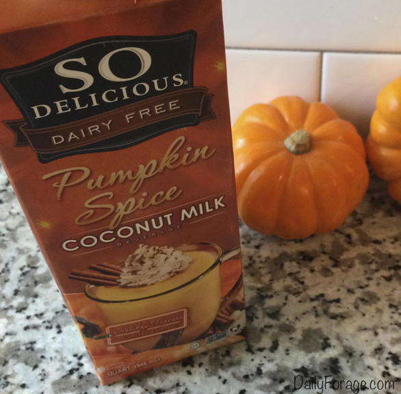 So Delicious Dairy-Free Pumpkin Spice Coconut Milk, a vegan, gluten-free review