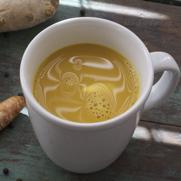 Dairy Free Golden Milk Turmeric Tea by DailyForage.com