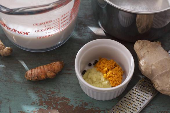 Gluten Free Vegan Golden Milk Turmeric Tea by DailyForage.com