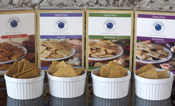Onesto Artisan Gluten-free Vegan Crackers by DailyForage.com