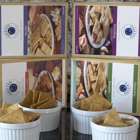 Onesto Gluten-free Vegan Crackers by DailyForage.com