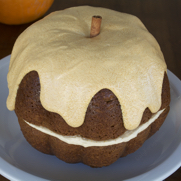 Pumpkin Bundt Cake with Butter Cream Cheese Frosting by DailyForage.com