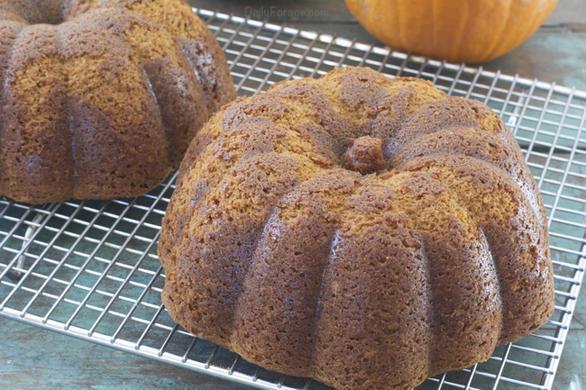 Pumpkin Bundt Cake unfrosted by DailyForage.com