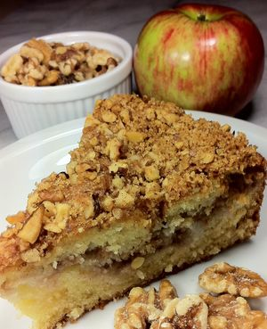Gluten Free Walnut-Apple Coffee Cake