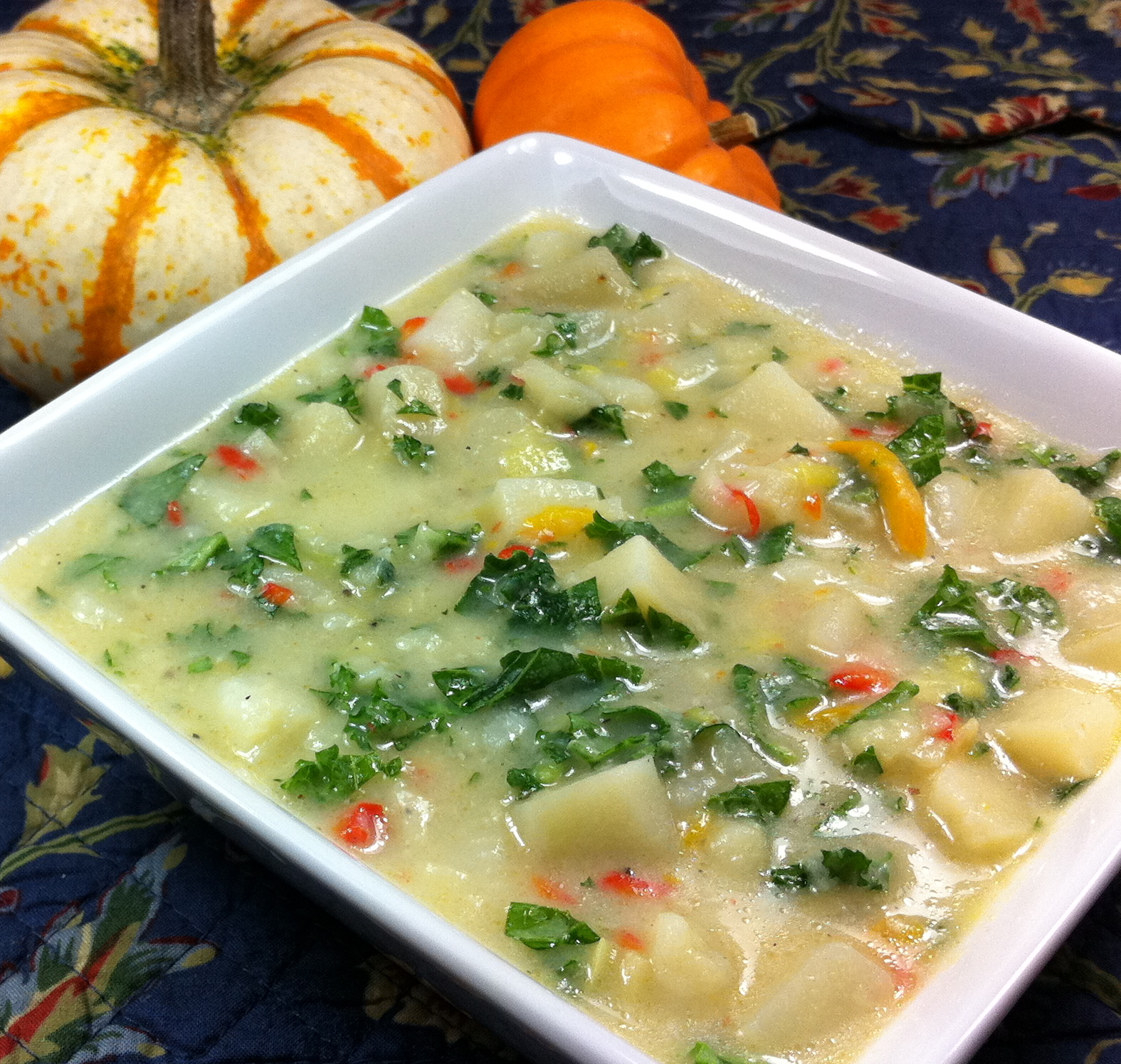 Gluten Free Dairy Free German Potato Leek Soup 1