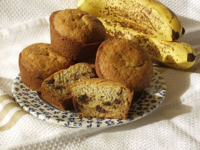 Banana Chocolate Chip Muffins Gluten Free Dairy Free, Recipe:Photo by Daily Forage