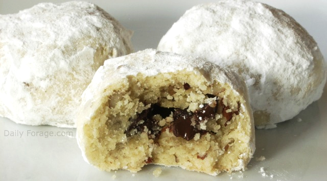 Chocolate Filled Pecan Sandies (Christmas Kiss Cookies)