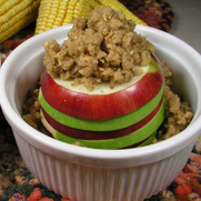 Gluten Free Dairy Free Layered Baked Apples with Crumble Topping, DailyForage.com