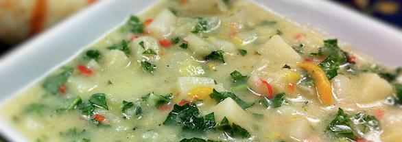 Gluten free dairy free potato leek soup daily forage gluten free publicscrutiny Images