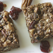 Gluten-free, Dairy-free Fruit & Nut Chewy Trail Mix Bars by DailyForage.com