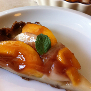 Gluten and Dairy Free Peach & Pear Custard Tart