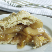 Gluten-free, Dairy-free Rustic Apple Peach Pie by DailyForage.com