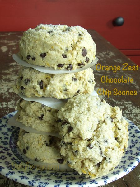 Orange Zest Chocolate Chip Scones w OB flour