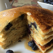 GF Hearty Whole Grain Blueberry Pancakes